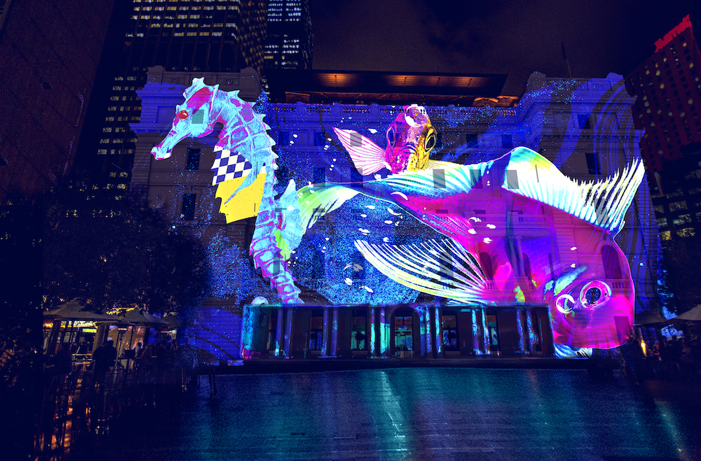 Vivid Sydney 2019 Customs House Under the Harbour